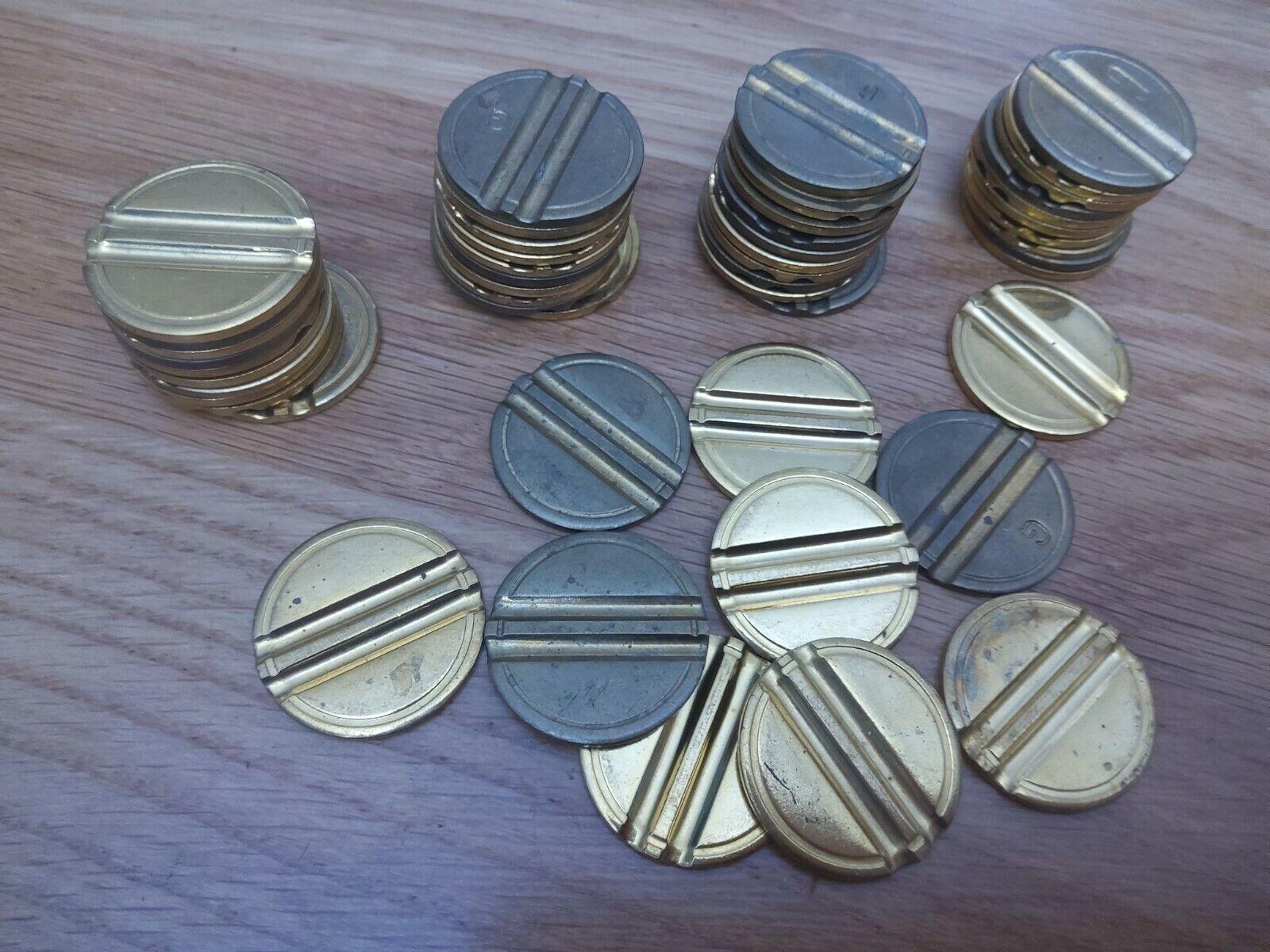 50 x Fruit machine 20p tokens, Steel double security slot