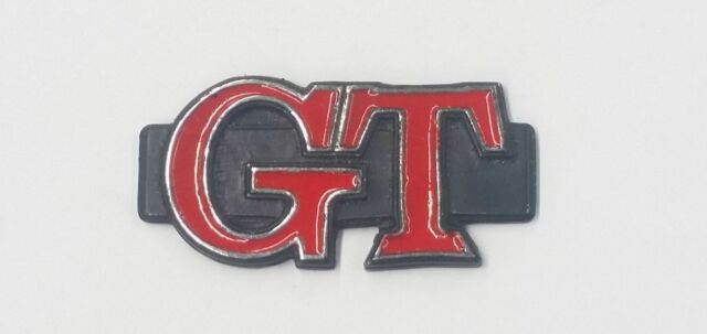MAZDA RX3 RX-3 GT COUPE REAR PILLAR BADGE BLACK / RED