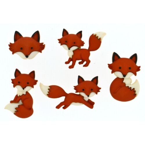 Fox Boutons-Dress It Up roulé-Woodland Animaux Nature Scrapbook Nature
