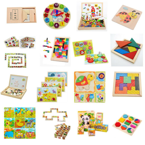 16 Styles Wooden Drawing Jigsaw Puzzle Collection Toy Gift For Baby Kids Child`