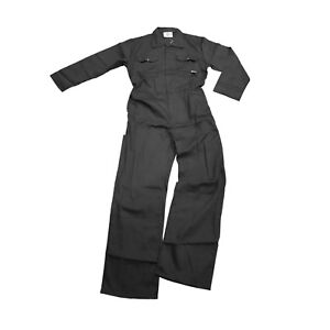 Negro-Algodon-Trabajo-general-Coverall-Caldera-Traje-S-3XL