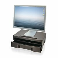 Officemate 2200 Series Monitor Stand With Drawer, Black (22502) , New, Free Ship on sale