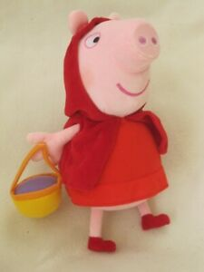 PEPPA-PIG-9-11-034-PLUSH-SOFT-TOY-DRESSED-AS-LITTLE-RED-RIDING-HOOD