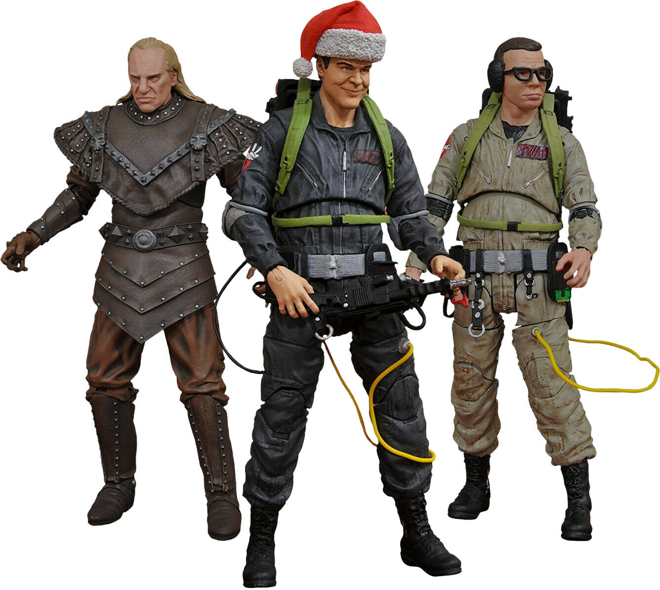 GHOSTBUSTERS II - 7  Series 6 Action Figure Set (3) Diamond Select Toys  NEW