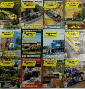 Lot-of-12-1992-Railroad-Model-Craftsman-Magazines