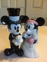 Mickey & Minnie Mouse Bride & Groom Wedding Figurine - Wedding Cake Topper