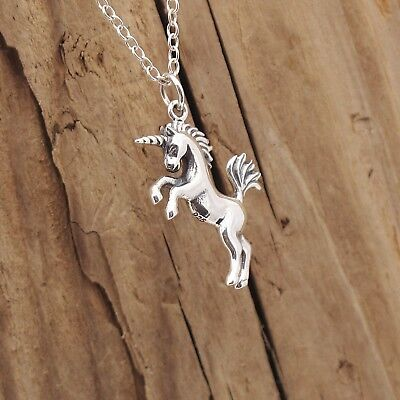 Whimsical Gifts Horse Lover Charm Neckace in Silver