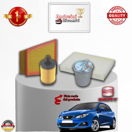 /> 2010 KIT TAGLIANDO 4 FILTRI SEAT IBIZA V 1.4 TDI 59KW 80CV DAL 2009
