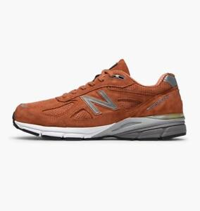 low priced 3c8e0 62e2f Details about NEW BALANCE 990 M990JP4 - JUPITER ORANGE/WHITE/GREY - SUEDE  MESH - MADE IN USA