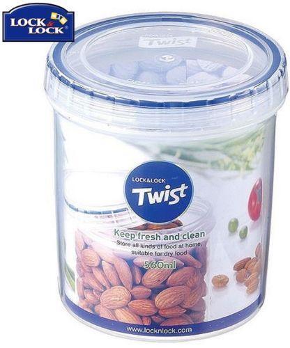 Lock /& Lock Round Twist Lid Food Storage Plastic 100/% Airtight Container Jar Box