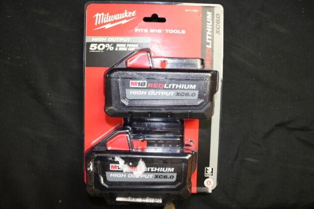 M18 Milwaukee 48-11-1862 6.0 AH Batteries High Output
