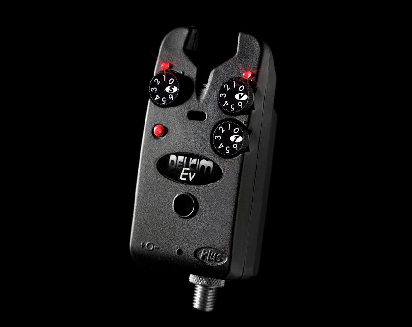 Delkim EV Plus Electronic Bite Alarm   Red   Carp Fishing