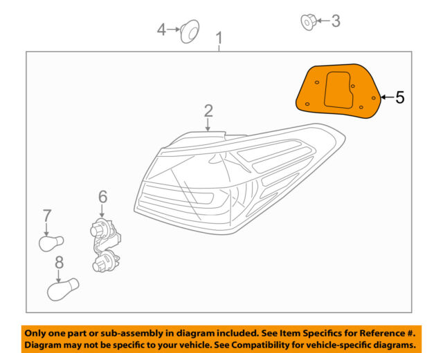 NEW GENUINE Right Passengers Side Tail Light Lamp Gasket Seal OEM For 2017 Forte
