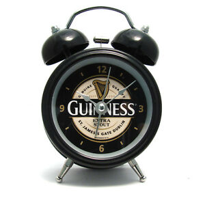 Genuine Guinness Double Bell Alarm Clock Free Battery included 02023