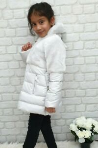 NEW-AUTHENTIC-ELSY-RRP-279-AGE-4-YEARS-GREY-FUR-DOWN-JACKET-COAT-JK09
