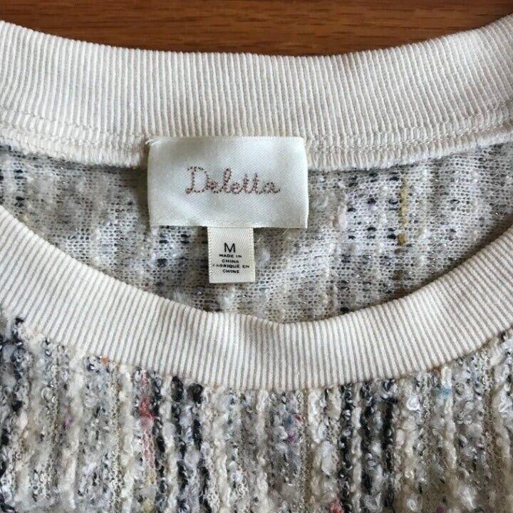 ANTHROPOLOGIE Deletta Textured Knit M - image 5