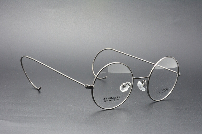 42//44//46//48//50//54 mm Gold Wire Rim Eyeglasses frames Eyewear Round Glasses Retro