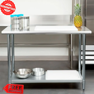 24-x-48-Stainless-Steel-Work-Prep-Table-With-Undershelf-Kitchen-Restaurant-House