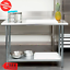 24-x-48-Stainless-Steel-Work-Prep-Table-With-Undershelf-Kitchen-Restaurant-House thumbnail 1