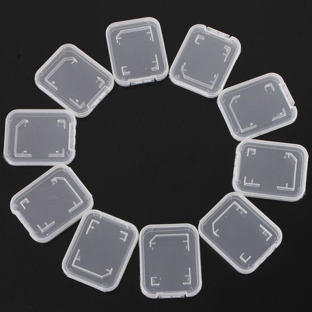 10 x Delicate Transparent Standard SD SDHC Memory Card Case Holder Box Storage