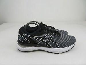 Asics-GEL-Nimbus-22-White-Black-1011A680-Athletic-Running-Shoes-Mens-9-M