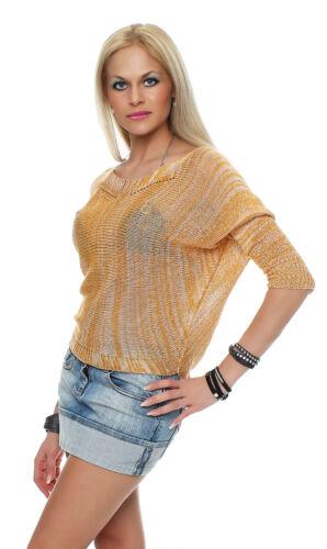 34-40 NEU Damen Netz Pullover Sommershirt Tunika Pulli Strickpullover BF 308 Gr
