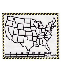 U S Map State Fill In White Patch U S A