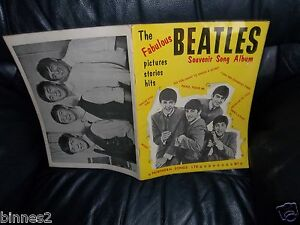 THE-BEATLES-1963-FIRST-SONG-BOOK-1st-Issue-SHEET-MUSIC-LYRICS-AND-MUSICAL-NOTES