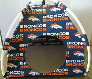 Image is loading Small-Denver-Broncos-Pup-Tent-Pet-Bed-Cat- & Small Denver Broncos Pup Tent Pet Bed/ Cat Bed/ Dog Bed/ Toy Box ...