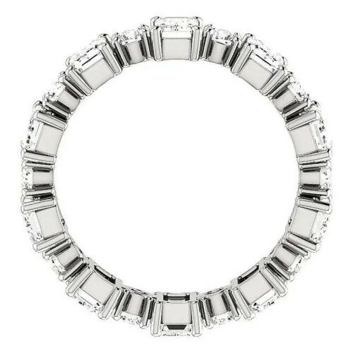 Fashion Femmes 925 Argent Anneaux De Mariage Blanc Saphir Bijoux Taille 6-10