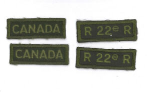 Canadian-army-green-combat-obsolete-r22r-lot-4-items