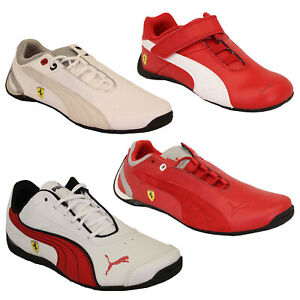 Boys-PUMA-Ferrari-Leather-Trainers-Kids-Evo-Power-Speed-Cat-Sports-Shoes-Casual