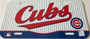 Chicago-Cubs-Plastic-Plate-Classic-Stripes-MLB-Officially-Licensed-NEW