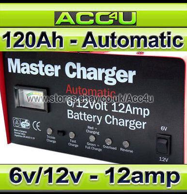12v 12A 120Ah Car Caravan Motorhome Automatic Maintenance Battery Charger SWMC12