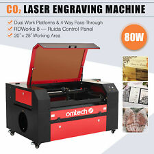 Omtech 80w Co2 Laser Cutting Machine With 28x20 Bed Usb Port And Ruida Controls