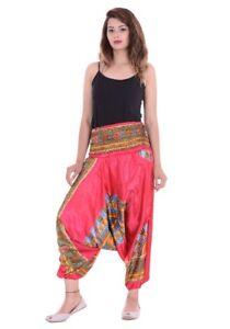 Harem-Trousers-African-Alibaba-Boho-Gypsy-Indian-Satin-Summer-Aladdin-Dashiki