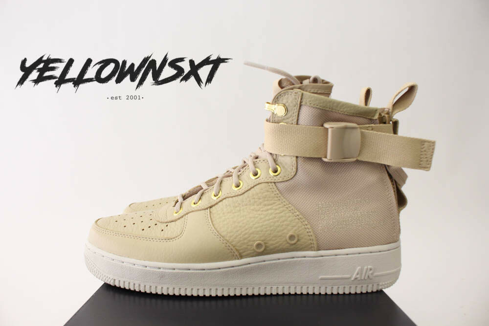 NIKE SF AF1 AIR FORCE 1 MID SZ 11 MUSHROOM LIGHT BONE FIELD BOOT 917753 200