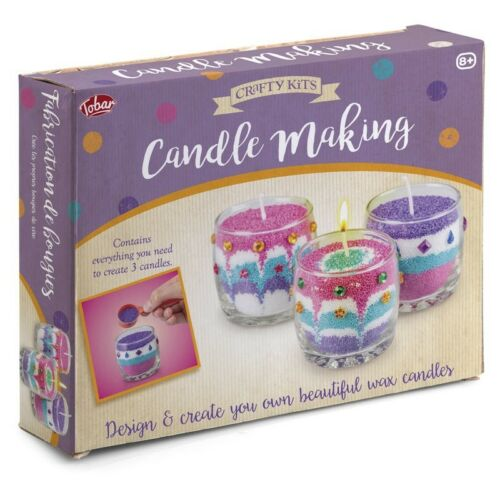 Kerzenherstellung Set 12728 Wunderschön Bunt Wachs Kerzen Dochte Gläser