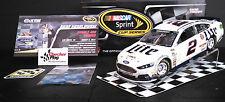 Brad Keselowski 2014 Signed SG NASCAR 1:24 Miller Lite #2 Las Vegas Win + Stand