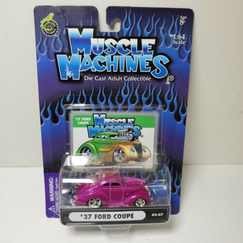 Muscle Machines 1937 /'37 Ford Coupe Hot Rod 1:64 Hot Pink Diecast