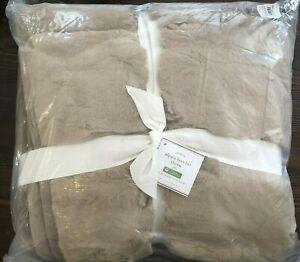 Pottery Barn Faux Fur Throw Blanket Alpaca Taupe 50x60