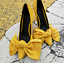 Womens-Pointy-Toe-Big-Bow-Pointed-Toe-Shoes-Suede-Stiletto-High-Heel-Party-Pumps thumbnail 5
