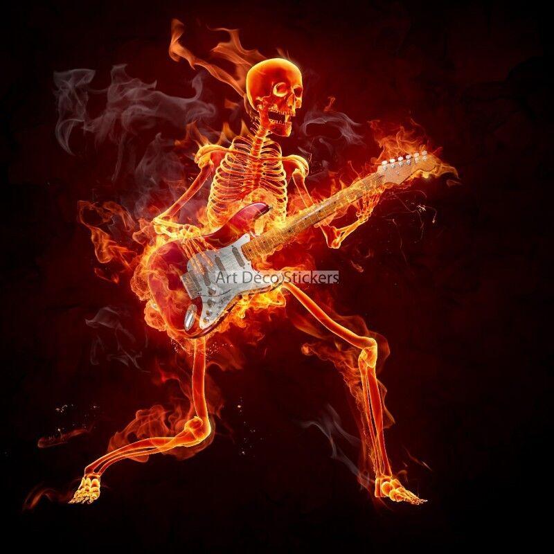 Papier peint géant  Squelette en flamme 11078 11078 11078 11078 | Online Shop  d7d9a3