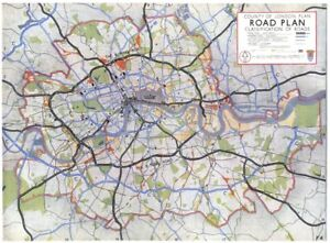 Map Inner London.London Planned Inner Ring Road System Classification Of Roads 1943