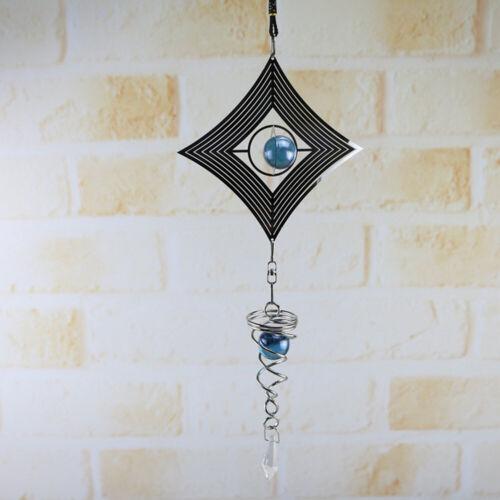 Metal Spinner Spiral Rotating Crystal Ball Windchime Church Yard Gift Decoration
