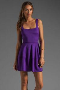 Size-6-Camilla-And-Marc-Pendentive-Dress-Purple-Skater-Short-Women-039-s-Bubble-NEW