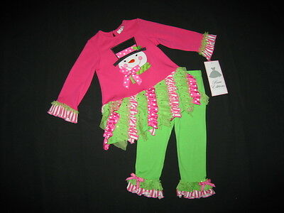 "NEW /""CANDY CANE BLOSSOMS/"" Tutu Pants Girls 18m Clothes Winter Christmas Baby"
