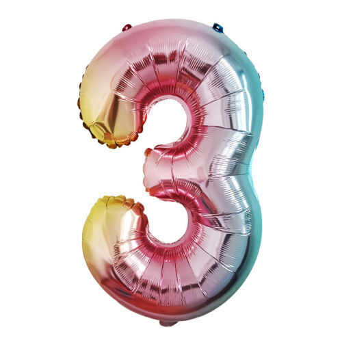 32 Inch Digit Foil Balloon Gradient Color Number 0-9 Birthday Party Decor Home