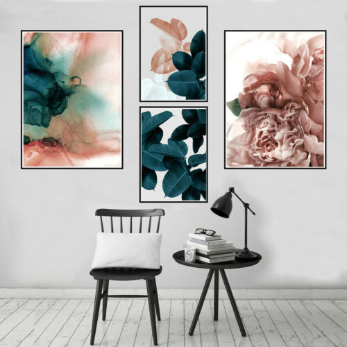 Abstract Leaves Canvas Paintings Poster Nordic Home Wall Art Decoration Unframed