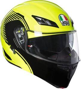 Casco-modulare-moto-Agv-Compact-St-Vermont-giallo-fluo-nero-lucido-XS-S-M-L-XL